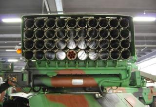 Вид сзади артиллерийской части демонстрационного варианта боевой машины WR-40 Langusta (Польша). ©О.В. Герман