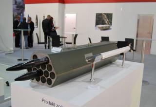 Макет блока орудий и неуправляемой авиационной ракеты калибра 70 мм. ©О.В. Герман
