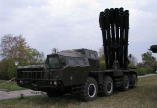 БМ 9А52 в боевом положении