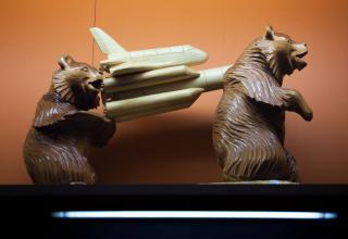 Экспонат в музее космодрома Байконур.