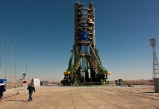 Пусковой стол площадки №1 «Гагаринский старт». Площадка приняла на себя более 600 пусков и является рекордсменом космодрома.