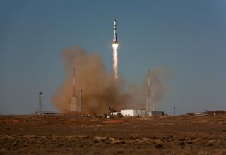 Вид со смотрового пункта площадки №31: запуск РН