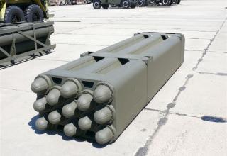 """Транспортно-пусковой контейнер для стрельбы реактивными снарядами калибра 160 мм РСЗО """"Найза"""""""