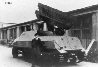 Немецкая установка для стрельбы снарядами на основе советских типа М8