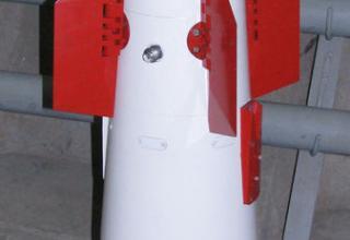 Макет блока системы управления с электронным временным устройством для управляемого реактивного снаряда для РСЗО