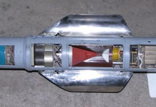 Макет самонаводящегося боевого элемента для снаряжения головной части реактивного снаряда для РСЗО