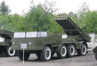 Видоизмененный макет боевой машины 9П140 РСЗО