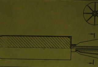 Схема снаряда-ракеты И.П. Граве.