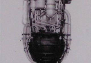 Вид жидкостного ракетного двигателя РД-100 для ракеты Р-1.