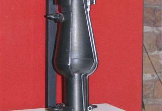 Макет жидкостного ракетного двигателя 10. Двигатель был разработан в ГИРД в 1933 году.