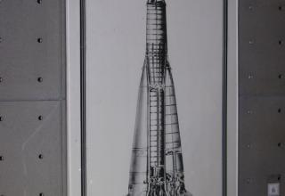 Рисунок ракеты-носителя СПУТНИК