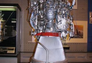 Вид жидкостного ракетного двигателя РД-301.