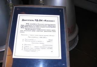 Данные жидкостного ракетного двигателя РД-214.