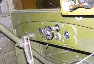 Внутренний вид кабины установки М-13