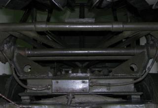 Вид сзади элементов конструкции метательной установки установки М-13