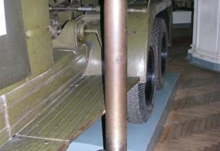 Вид макета реактивного снаряда М-13