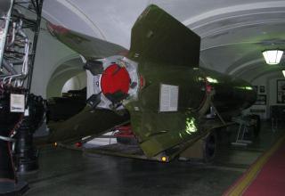 Вид сзади макета ракеты Р-2 (8Ж38)