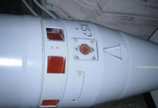 Вид блока системы управления разрезного макета корректируемого реактивного снаряда РСЗО