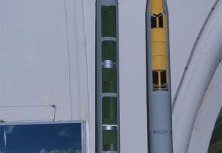 Виды головных частей макетов неуправляемых реактивных снарядов 9М43 и 9М28К калибра 122 мм