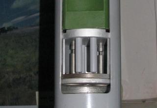 Вид мповерхности (места) соединения головной и ракетной частей макета неуправляемого реактивного снаряда 9М28К калибра 122 мм