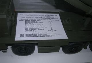 Данные боевой машины 9А52 РСЗО