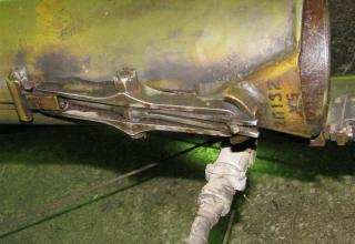 Вид замково-стопорного устройства трубчатой направляющей пусковой установки 2П132