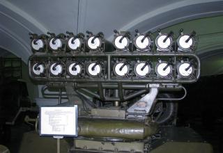 Вид сзади артиллерийской части боевой машины БМ-14