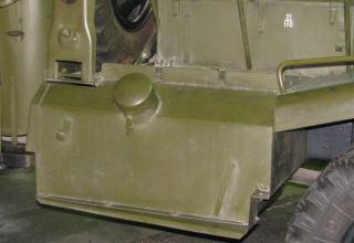 Вид бронезащиты бензобака боевой машины БМ-14