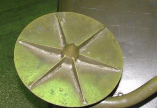 Вид тарелки (блина) домкрата боевой машины БМ-14
