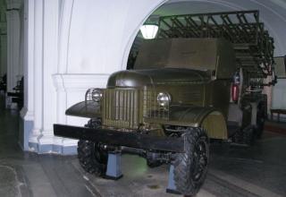 Боевая машина БМ-31-12 на доработанном (модифицированном) шасси грузового автомобиля ЗИС-151