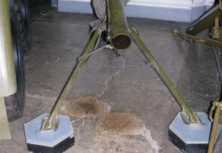 Вид сзади пусковой установки 2П132 Переносной реактивной осветительной системы 9К510