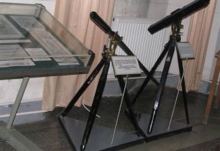 Макеты станка с 2-дюймовой боевой ракетой и макет станка для пеших и конных команд обр.1869