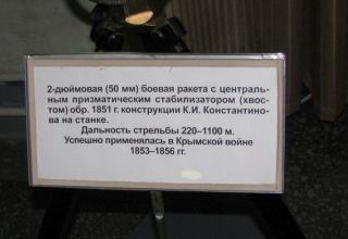 Информация о 2-дюймовой боевой ракете на станке