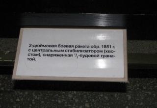 Информация о 2-дюймовой боевой ракете обр. 1851