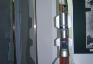 Разрезной макет зенитной управляемой ракеты войск ПВО
