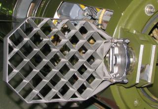 Элемент конструкции хвост. части разрезного макета одноступенчатой твердотопливной УР 9М79К с КБЧ высокоточного РК 9К79
