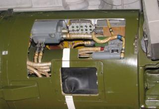 Элементы конструкции хвост. части разрезного макета одноступенчатой твердотопливной УР 9М79К с КБЧ высокоточного РК 9К79