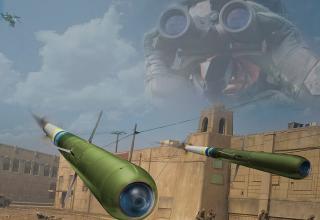 Диорама с макетами ракеты DAGR с лазерным наведением (США)