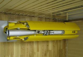Макет беспилотного летательного аппарата для снаряжения головной части корректируемого реактивного снаряда 9М534 РСЗО ©С.В.Гуров