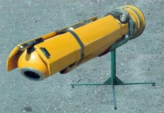 Макет беспилотного летательного аппарата для снаряжения головной части корректируемого реактивного снаряда 9М534 РСЗО