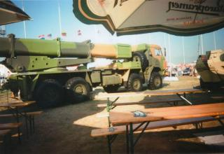 Первый вариант опытного образца боевой машины 9А52-4 РСЗО