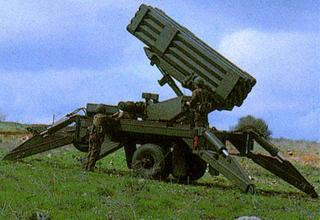 Вариант буксируемой реактивной пусковой установки (Израиль)