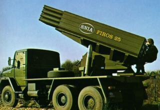 Вариант боевой машины Полевой реактивной системы FIROS 25 (Италия)