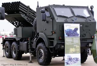 Вариант боевой машины РСЗО LAROM с двумя ТПК для запуска реактивных снарядов калибра 122 мм (Румыния-Израиль)
