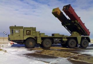 Опытный образец боевой машины РСЗО