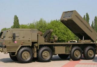 Вариант боевой машины RM-70 Modular с ТПК для запуска реактивных снарядов калибра 122 мм (Словакия)©MiroslavGyurosi
