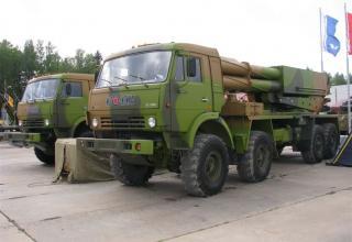 Второй вариант опытного образца боевой машины 9А52-4 РСЗО
