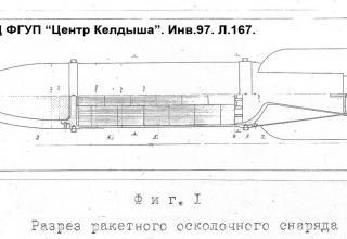 Разрез ракетного осколочного снаряда. (Из архива ГНЦ ФГУП