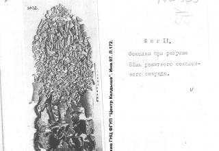 Осколки при разрыве 82мм ракетного осколочного снаряда. (Из архива ГНЦ ФГУП