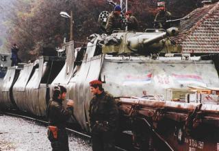 Бронепоезд боснийских сербов в Краине